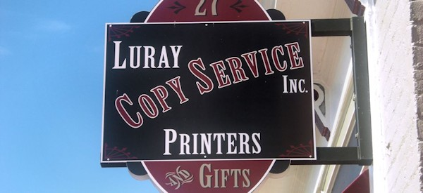 luray copy service sign